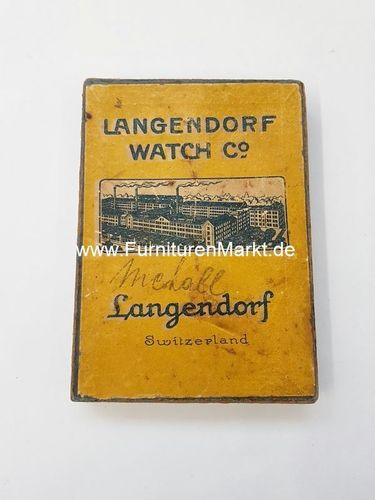 Langendorf Watch Co, Werkeschachtel,